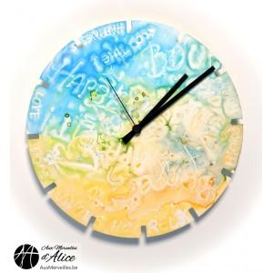 Horloge Artclock : Happiness