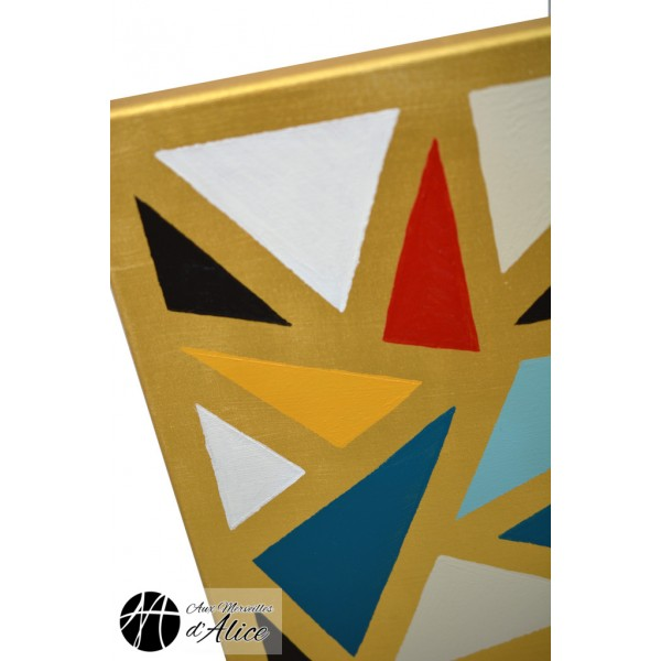 achat mosaic triangles dor peintures. Black Bedroom Furniture Sets. Home Design Ideas