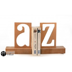 A-Z bookend (pair of) - outside