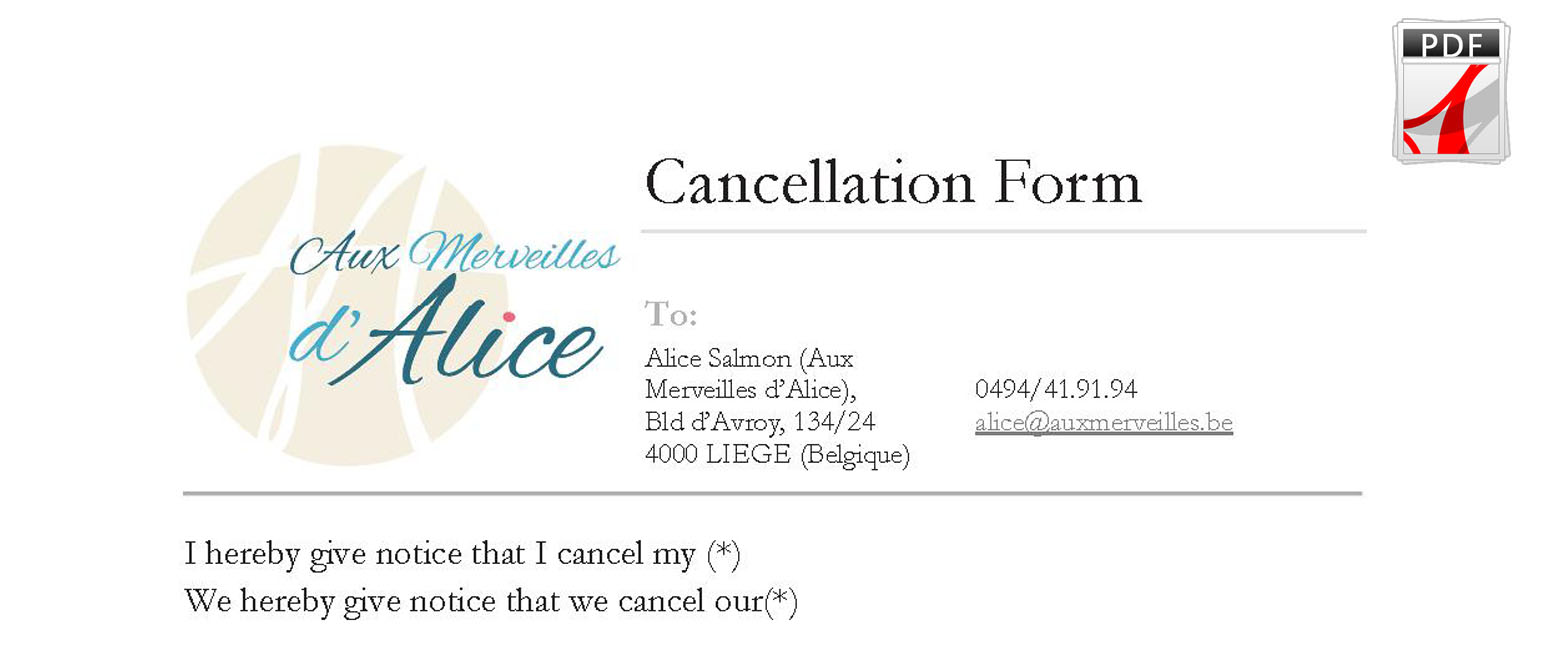 Cancellation Form preview