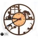 Horloge Facéties de Chat